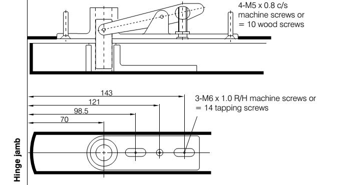 A-FS4000-0114 AXIM Double Action Retractable top centre Pivot